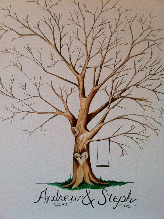 Wedding Tree Awesome Alternative to a Guest Book by KatiebonesX, $75.00