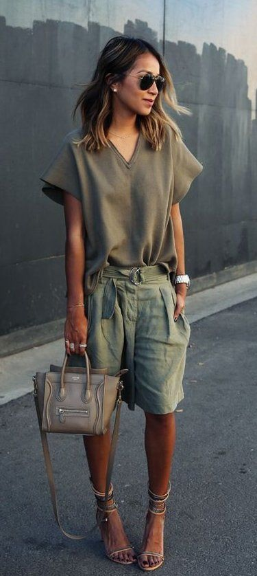 summer outfits Army Top + Army Short