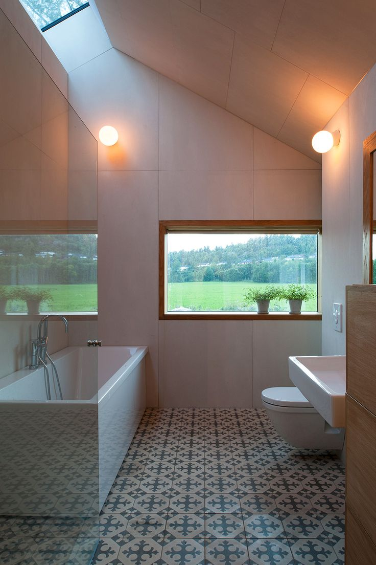 Bathroom Detached Wooden House  Detached House with Scenic Views of the Fjords in Norway