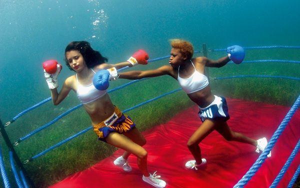 More-Womens Underwater Boxing by drewhammond.deviantart.com on @deviantART