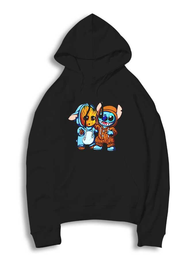 d7f02134c41a Stitch And Baby Groot Hoodie   Cheap Custom Supreme   Clothing   Hoodies,  Girls clothing stores, Hoodie outfit