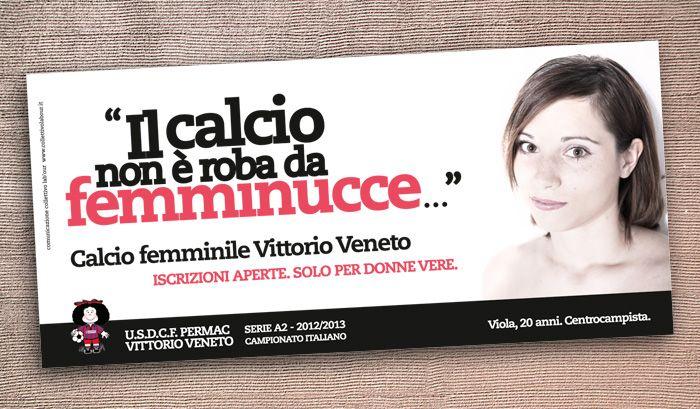 CALCIO FEMMINILE VITTORIO VENETO Campagna di comunicazione
