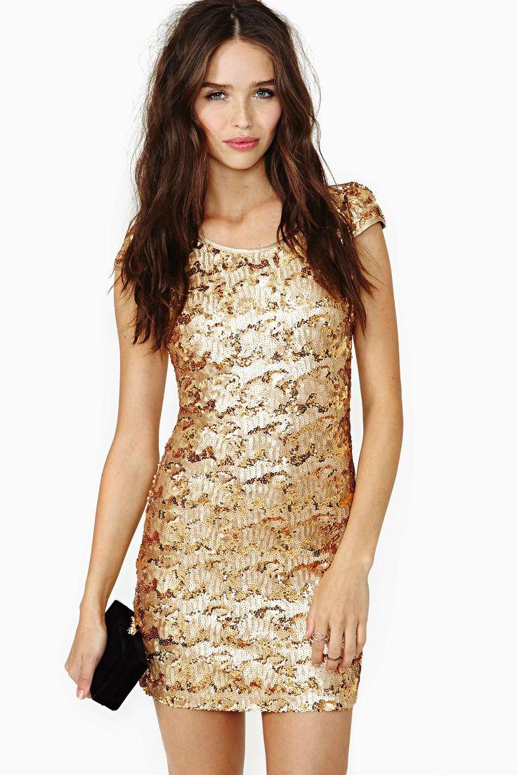 Rare London Sun Glitter Sequin Dress | Shop Body-Con at Nasty Gal