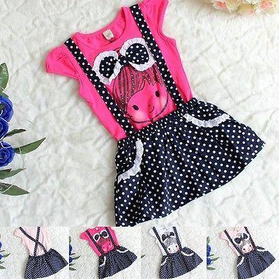 New Baby Bow Dress Girls Kid Princess Polka Dot Dress Ropa de Niñas Vestido de Overol Niños Gilr Vestido de Verano(China (Mainland))
