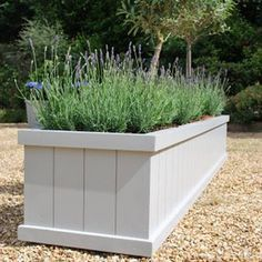 long wooden planters painted - Google Search