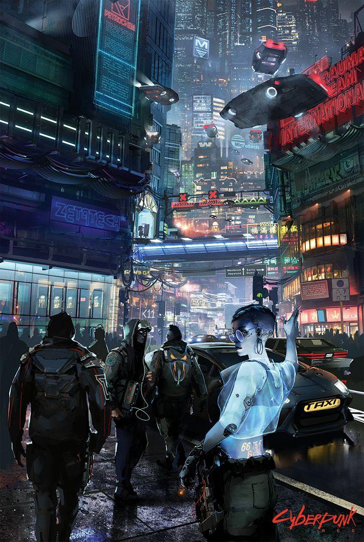 Cyberpunk Cab Hail Poster R. Talsorian Games Inc. R