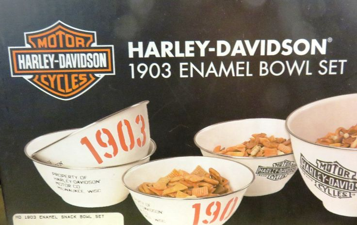 Harley-Davidson bowl set