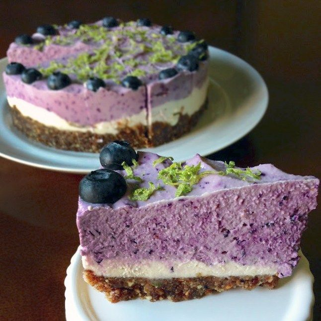 Blueberry Lime Cheesecake {Vegan/GF/Paleo} - Powered by @ultimaterecipe