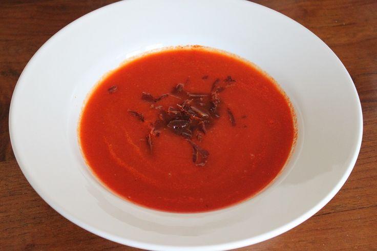 Pittige wortel paprika soep #recept #foodblog #foodinista #paprika #wortel #soep