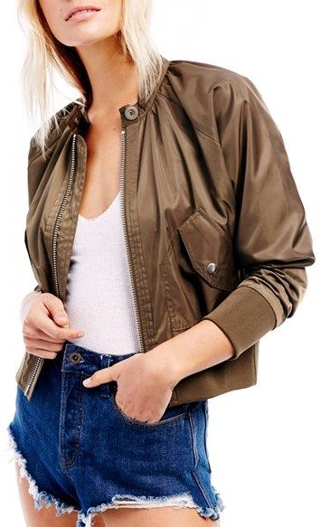 Women's Free People Midnight Bomber Jacket
