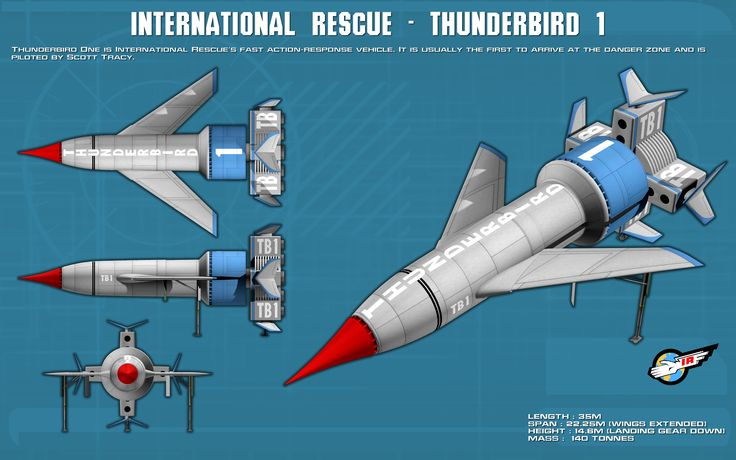 Thunderbird 1 ortho [new] by unusualsuspex on deviantART | Gerry Anderson