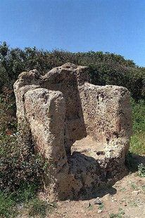 The ancient throne or lectern seat near the site of Falasarna West #Crete Island  #Chania