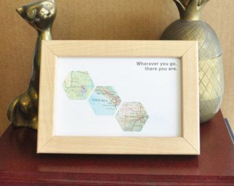 Wedding Gift for Groom from Bride Gift for Couple Map by ekra