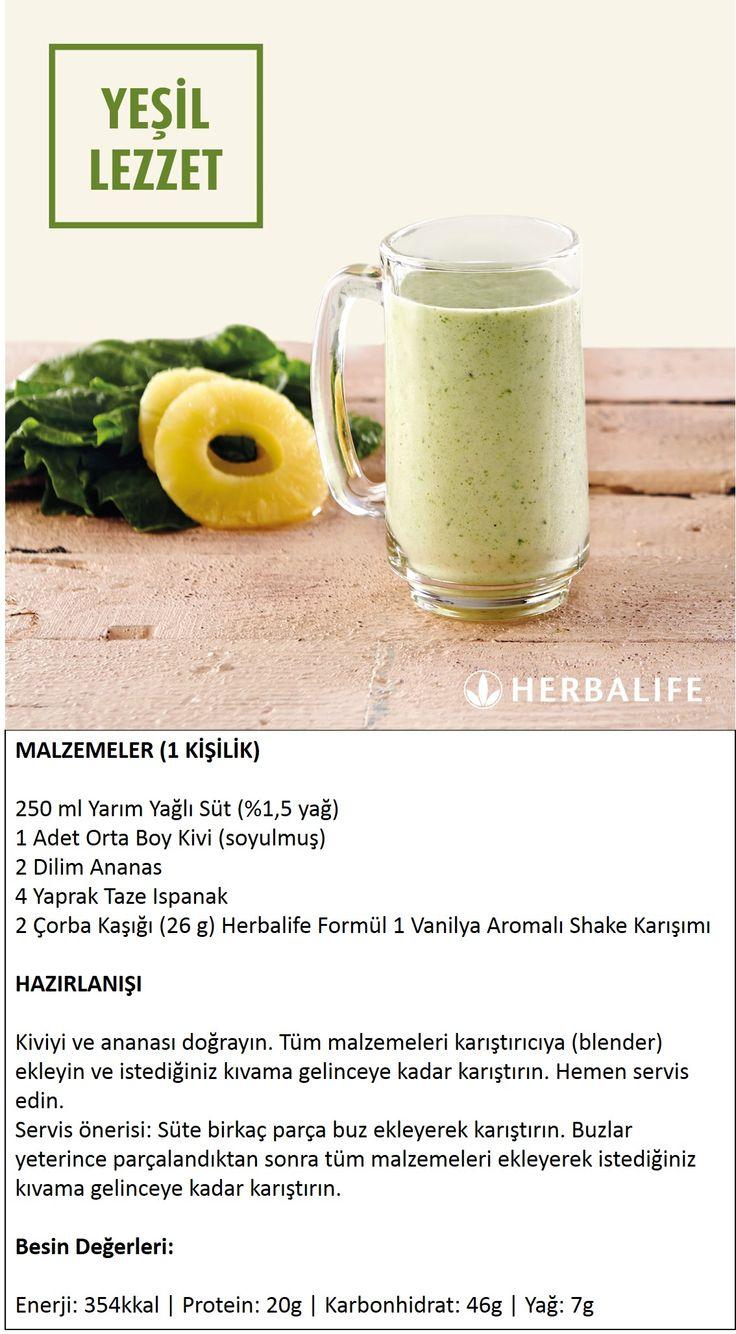 Herbalife Shake Tarifleri / Yeşil Lezzet