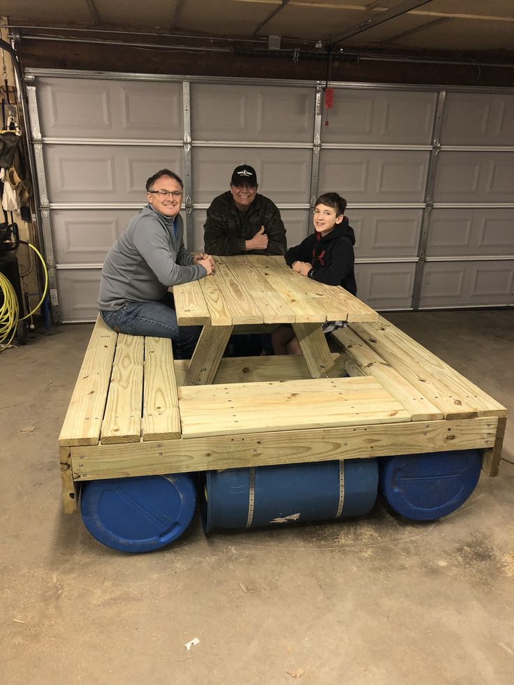 7 Best Floating Picnic Table Project Images On Pinterest