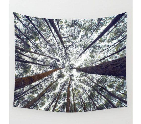 Wall Tapestry Tree Tapestry Wall Hanging Trees by StayWildCo