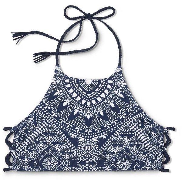 Women's High Neck Halter Bikini Top - Xhilaration™ : Target ❤ liked on Polyvore featuring swimwear, bikinis, bikini tops, swimsuit tops, tankini top, halter top, high neck halter top and swim suit tops
