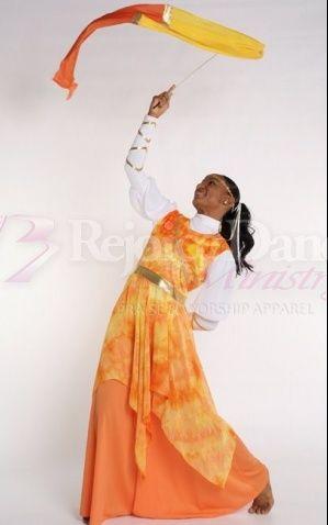 Holy Fire Tunic - Praise & Worship Dance Wear