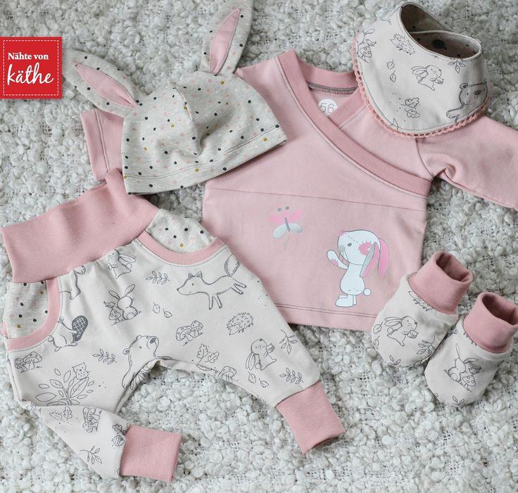 Babyset aus Trotzkopf, Jinx, Beanie, Tuch und Wende-Schühchen