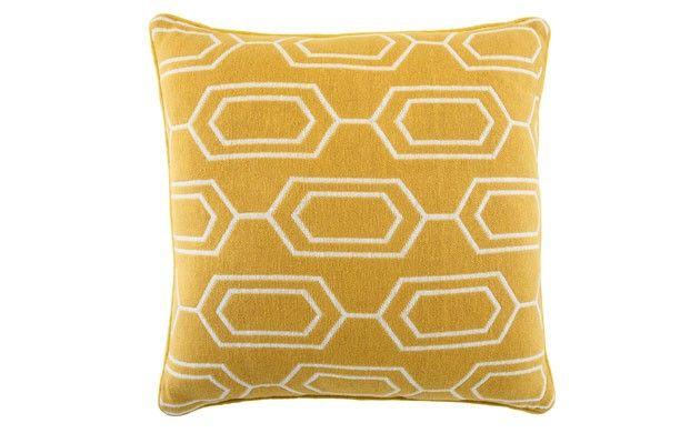 by Sainsbury's Mustard Geometric Cushion