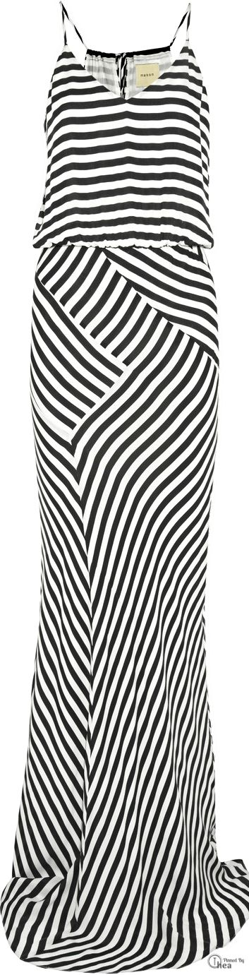 Michelle Mason ● Striped silk gown