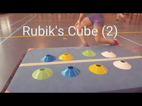 Rubik's Cube in de gymles! - YouTube