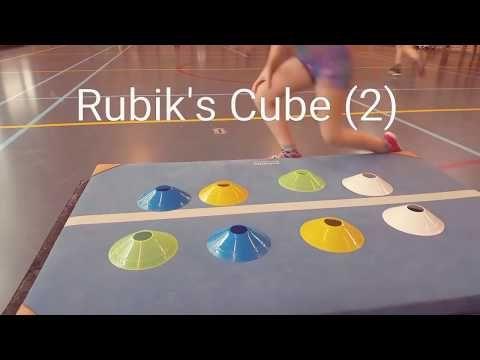 Rubiks Kubus in de gymles! Een leuk spel van