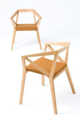 Silla moderna de madera con brazos - YY by For Use/ Numen - ArchiExpo