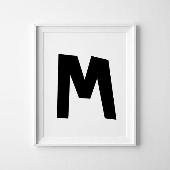 Alfabet & Zahlen M Baby Room Decor Wall Art von PixartPrint auf Etsy