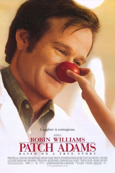 My favorite Robin Williams movie poster: PATCH ADAMS - 1998 - Orig D/S 27x40 movie poster - ROBIN WILLIAMS, MONIA POTTER