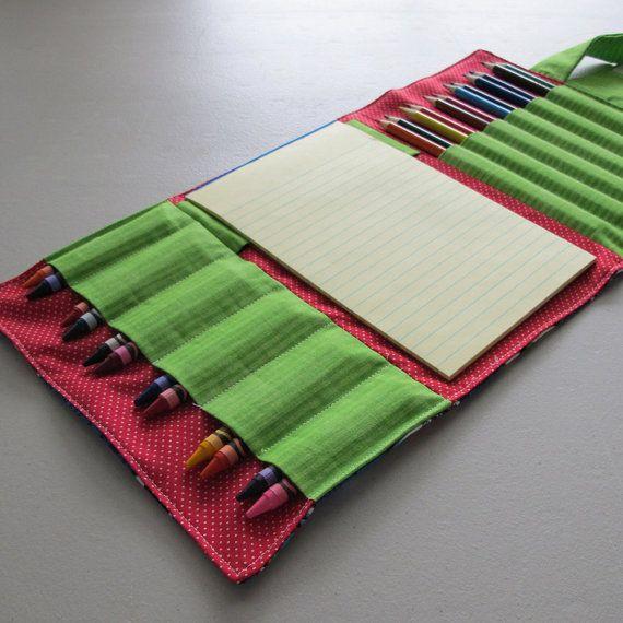 Crayon, crayon de couleur et papier Wallet - Thomas le Train, le vert et rouge - crayons de couleur, crayons et papier non inclus