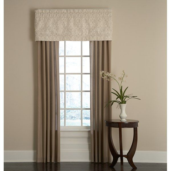 bridge street sonoma window valance in ivory window panels curtain