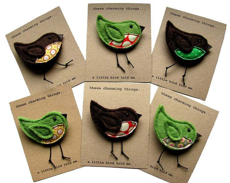 'a little bird told me' felt brooch by these charming things…