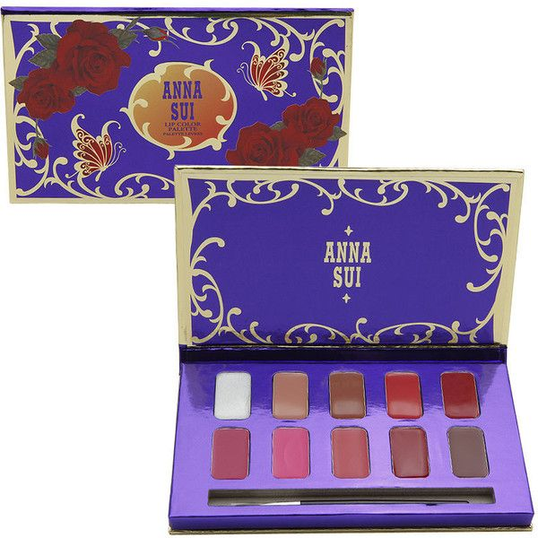 Anna Sui Lip Color Palette, Dolly Girl 0.52 oz (15 ml) (580 ARS) ❤ liked on Polyvore featuring beauty products, makeup, lip makeup, beauty, cosmetics, lip, anna sui makeup, palette makeup, anna sui cosmetics and anna sui
