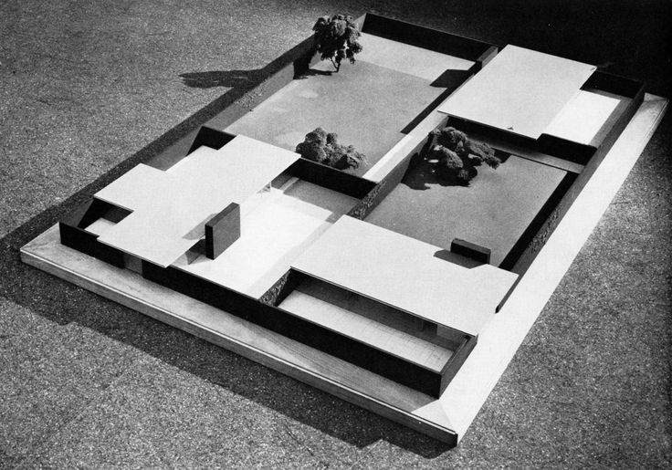 MIES VAN DER ROHE   GROUP OF THREE COURT HOUSES, PROJECT, 1938