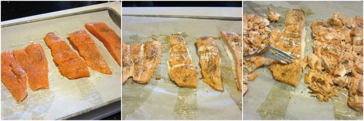 How to make baked salmon salad spread