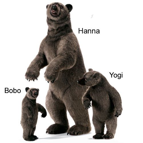 Hanna Life-Size Grizzly Bear and Cubs from PoshTots