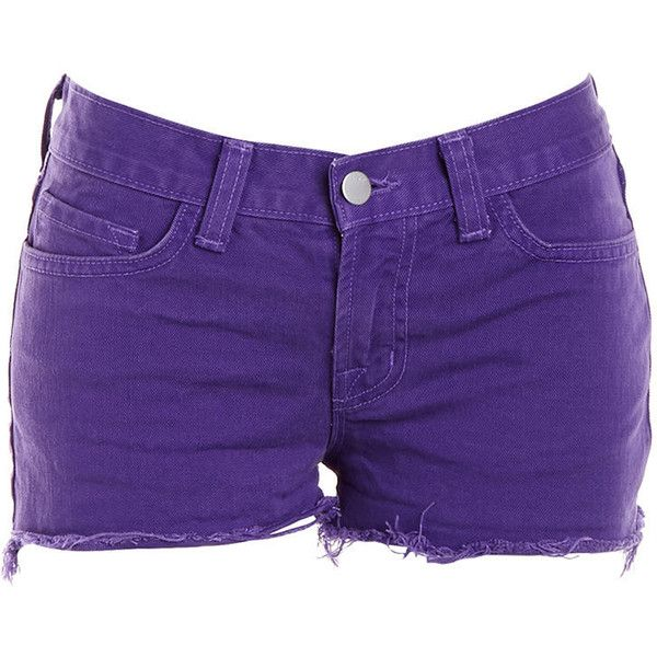 Pre-owned Women's J Brand Purple Shorts ($29) ❤ liked on Polyvore featuring shorts, bottoms, pants, short, purple, purple shorts, short shorts, j brand shorts and j brand