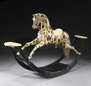 English Painted Rocking Horse, First half of 19th century