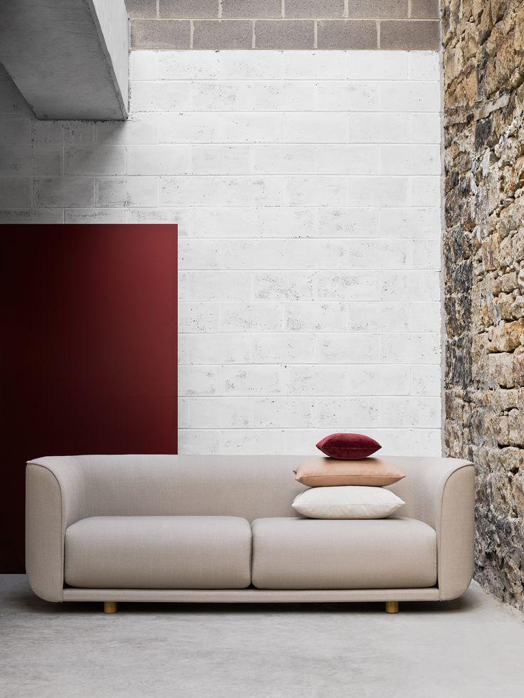 Kvadrat textiles on the Fat Tulip Sofa, a design for Cult