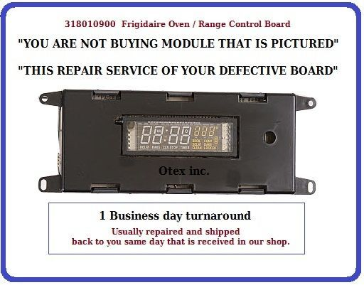 """""""YOU ARE NOT BUYING MODULE THAT IS PICTURED"""" """"THIS IS REPAIR SERVICE OF YOUR DEFECTIVE BOARD"""" 1. Purchase repair service 2. You will receive Message o... #repair #service #board #control #oven #range #frigidaire"""
