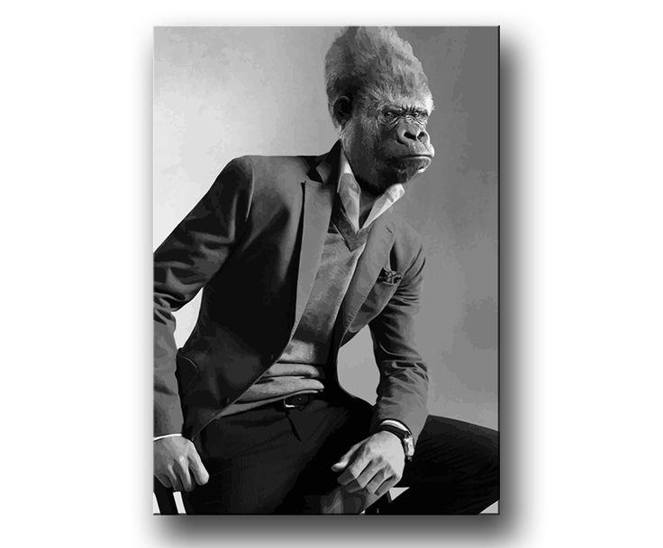 """Gorilla-Man"" poster / canvastavla / prints"