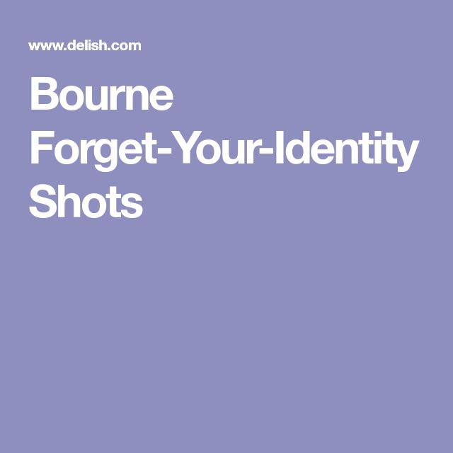 Bourne Forget-Your-Identity Shots