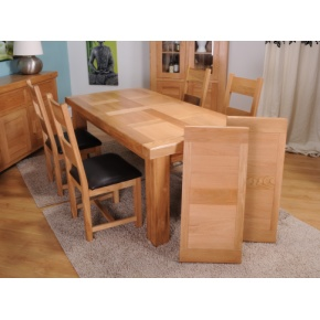 Grand Marseilles Large Oak Dining Table www.easyfurn.co.uk