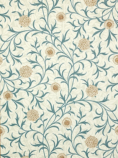 Buy Sanderson Wallpaper, Morris & Co Scroll, Loden / Slate, 210362 online at JohnLewis.com - John Lewis