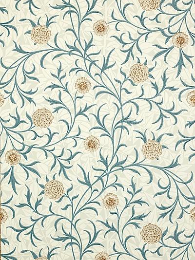 Buy Sanderson Wallpaper, Morris & Co Scroll, Loden / Slate, 210362 online at JohnLewis.com - John Lewis