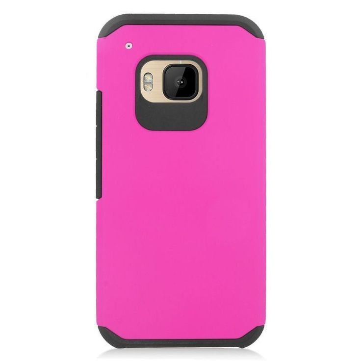 Insten Hard PC/ Silicone Dual Layer Hybrid Rubberized Matte Case Cover For HTC One M9