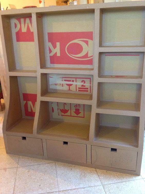 M tier conception meuble papier carton design de maison for Conception meubles