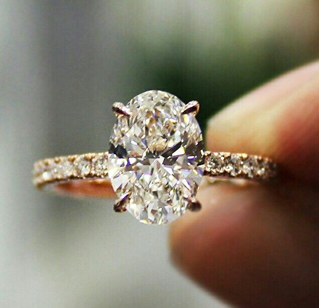 1.81 Carrot Oval Cut Pave Diamond Engagement Ring