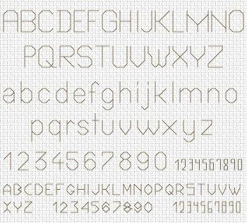 Backstitch alphabet for the Project 2010 - Flower of the Month, designed by Ellen Maurer-Stroh, from EMS Cross Stitch Design.